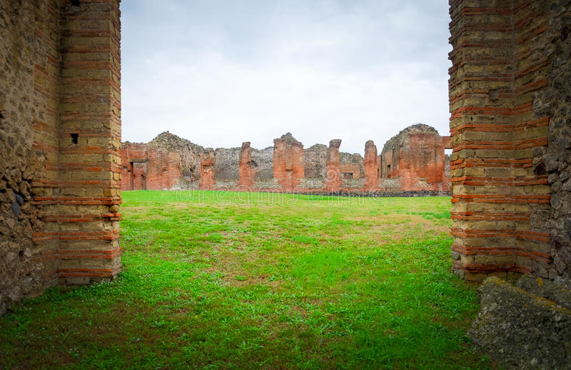 Pompeii. The city of Pompeii was an ancient Roman town-city near modern Naples in the Italian region of Campania, in the territory of the comune of Pompei royalty free stock image