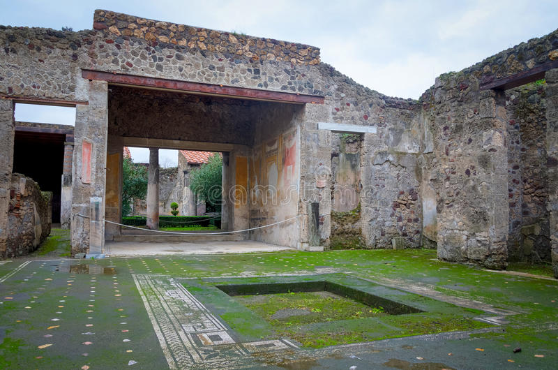 Pompeii. The city of Pompeii was an ancient Roman town-city near modern Naples in the Italian region of Campania, in the territory of the comune of Pompei royalty free stock images