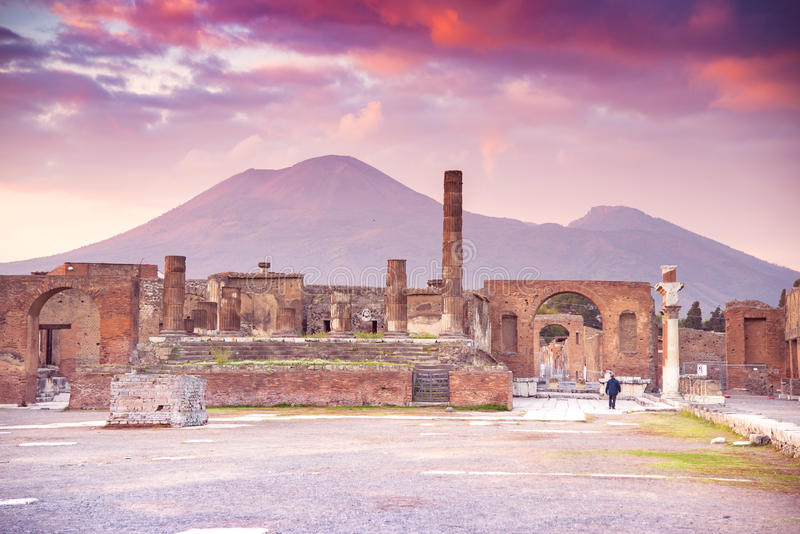 Pompeii. The city of Pompeii was an ancient Roman town-city near modern Naples in the Italian region of Campania, in the territory of the comune of Pompei stock image