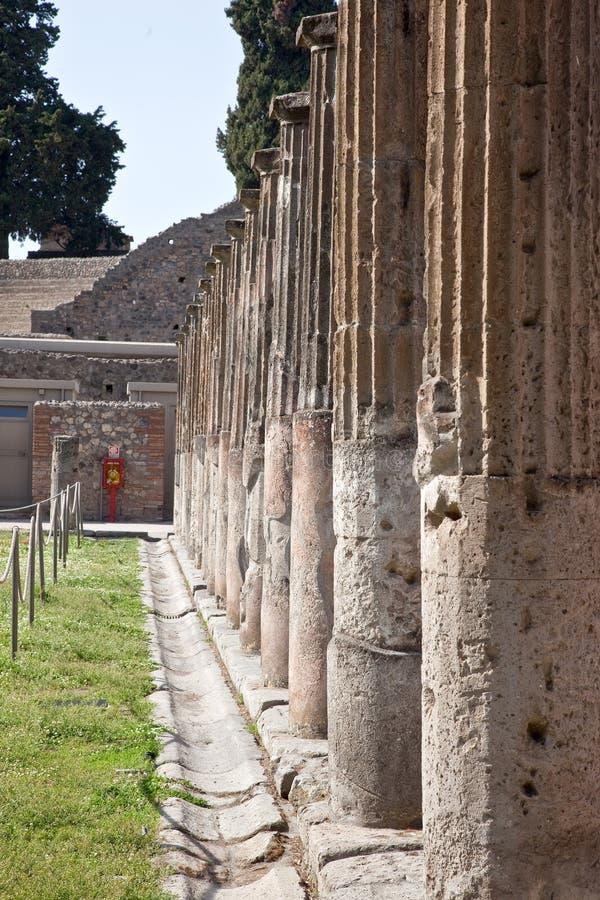 Pompeii, colunata foto de stock
