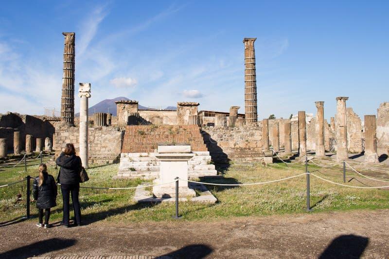 Pompeii est une ville antique enterrée dans l'ANNONCE 79 de l'éruption de images libres de droits