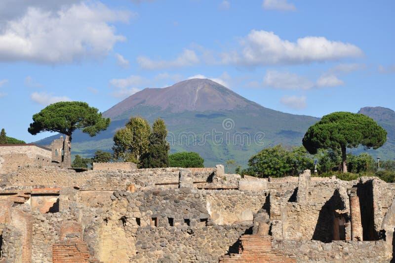 pompeii fördärvar royaltyfri bild