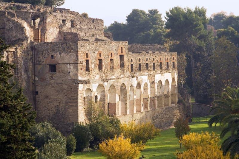 pompeii fördärvar royaltyfria bilder