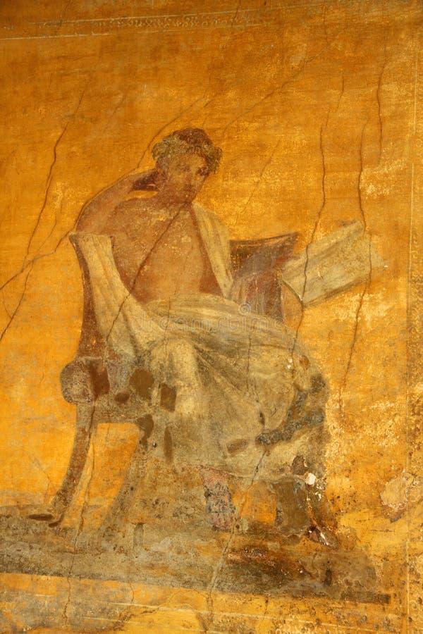 Pompeii Fresco. Detail color image of a fresco from the ancient city of Pompeii royalty free stock photos