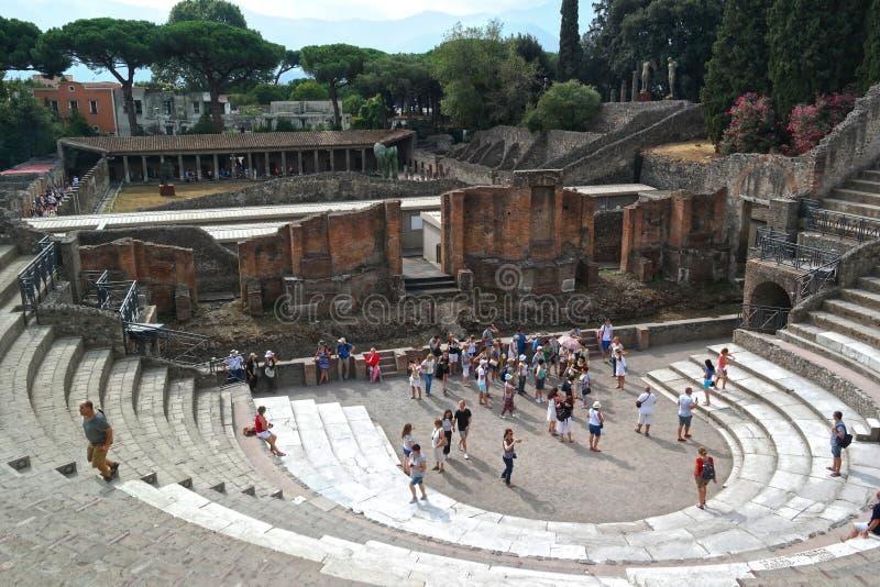 Pompeii ITALIEN - SEPTEMBER 5, 2016 Naples Italien Pompeii romare arkivbild