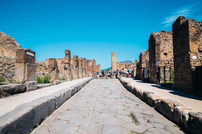 Ruins of Pompeii in Italy stock photos