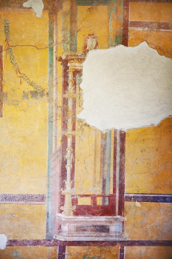 Fresco Paintings On Ancient Roman Walls Stock Image - Image of ...