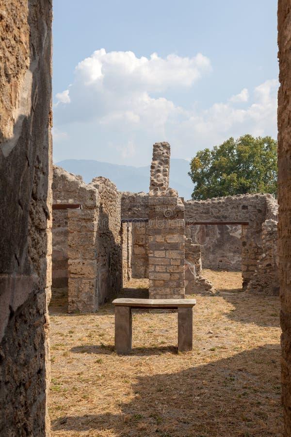POMPEII, ITALY: Museum under the open sky. Views of city. POMPEII, ITALY - SEPTEMBER 3, 2019: Museum under the open sky. Views of city royalty free stock photo