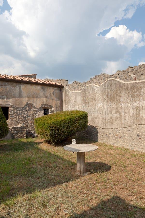 POMPEII, ITALY: Museum under the open sky. Views of city. POMPEII, ITALY - SEPTEMBER 3, 2019: Museum under the open sky. Views of city royalty free stock photos