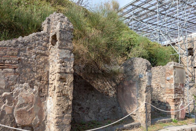 POMPEII, ITALY: Museum under the open sky. Views of city. POMPEII, ITALY - SEPTEMBER 3, 2019: Museum under the open sky. Views of city royalty free stock image