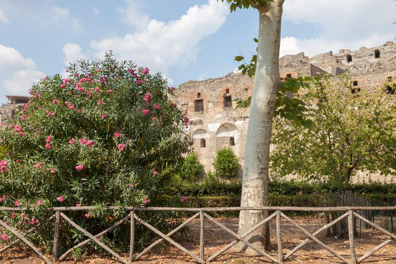POMPEII, ITALY: Museum under the open sky. Views of city. royalty free stock photo