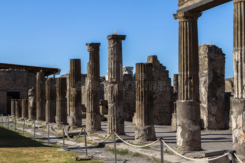 Pompeii, Italy. The ruins of ancient Pompeii, Italy stock photo