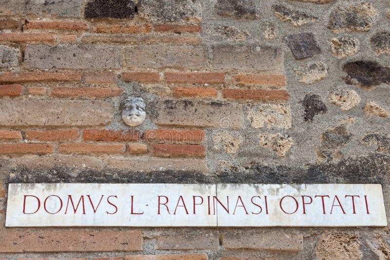 POMPEII, ITALY: Museum under the open sky. Views of city. POMPEII, ITALY - SEPTEMBER 3, 2019: Museum under the open sky. Views of city stock photo