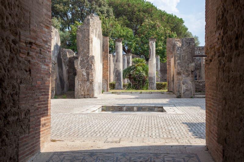 POMPEII, ITALY: Museum under the open sky. Views of city. POMPEII, ITALY - SEPTEMBER 3, 2019: Museum under the open sky. Views of city stock images