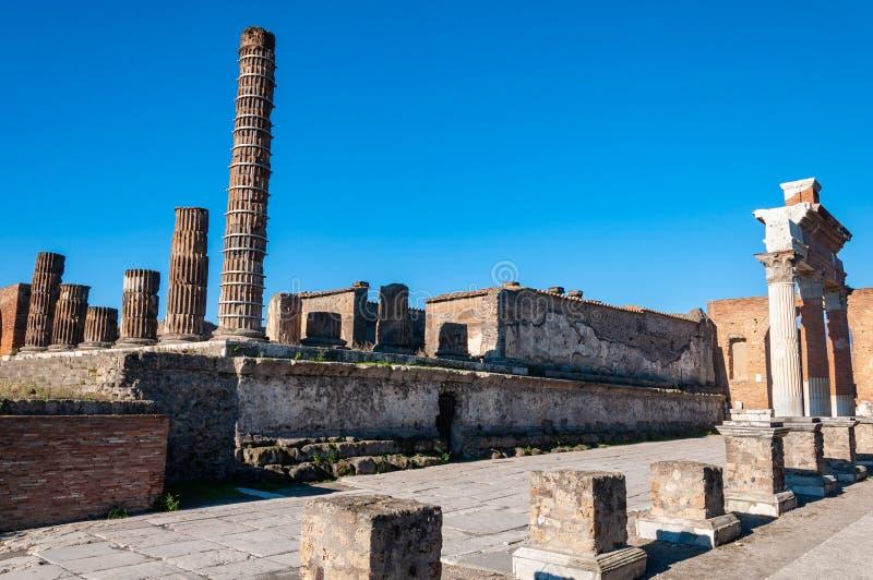 Pompeii, le meilleur site arch?ologique pr?serv? dans le monde, Italie images libres de droits