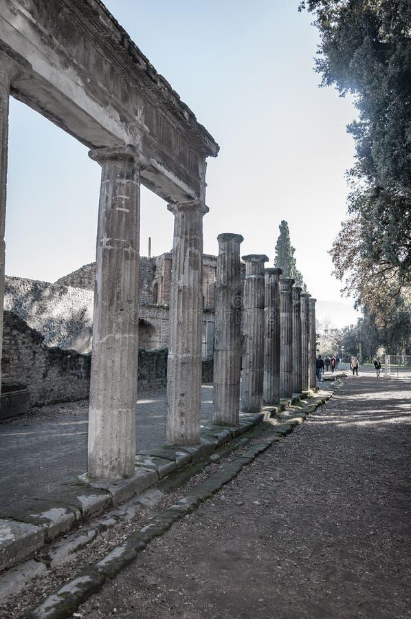 Pompeii, le meilleur site arch?ologique pr?serv? dans le monde, Italie image libre de droits