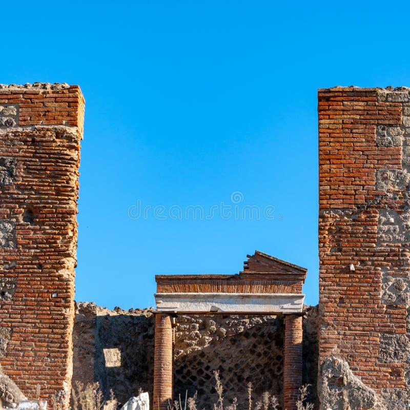 Pompeii, le meilleur site arch?ologique pr?serv? dans le monde, Italie photo stock