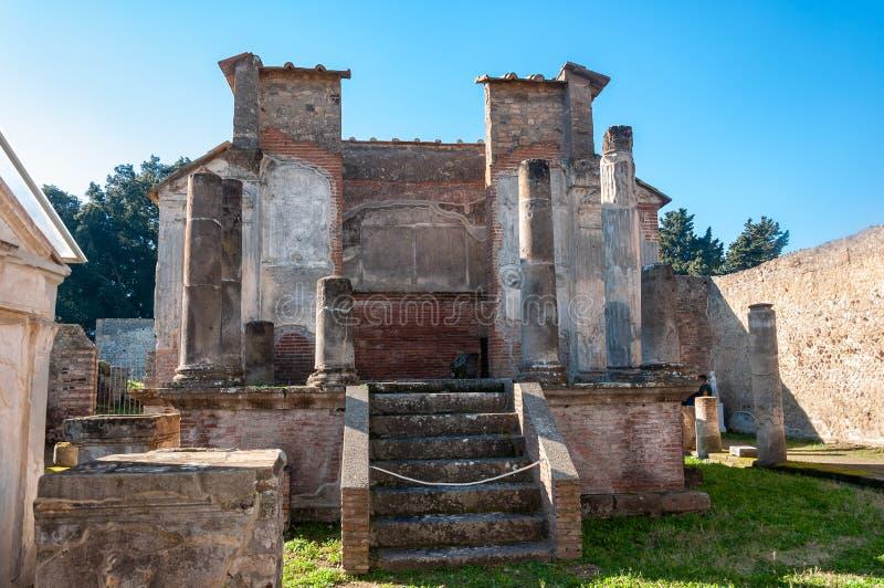 Pompeii, le meilleur site arch?ologique pr?serv? dans le monde, Italie Temple d'Iside photographie stock
