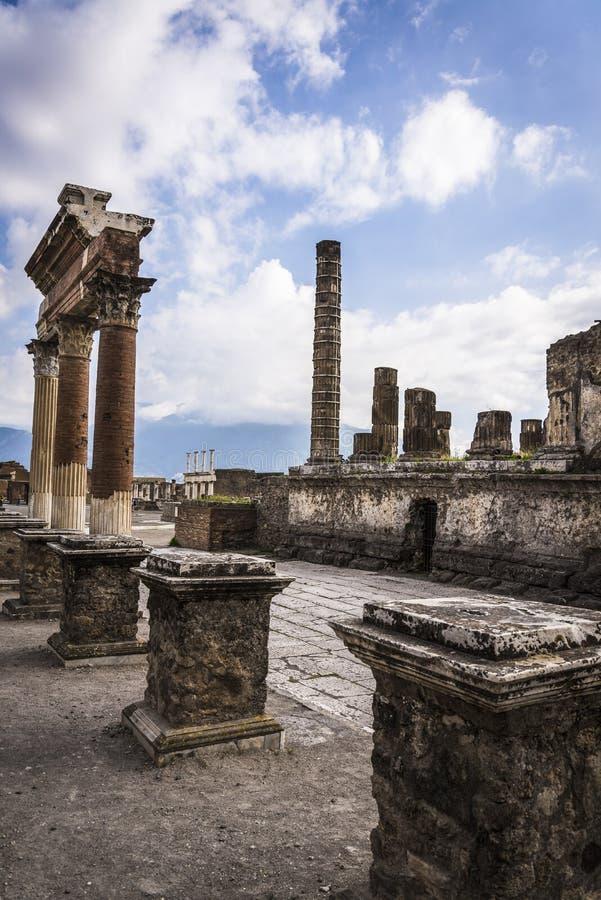 Pompeii, local arqueológico perto de Nápoles, Itália imagens de stock