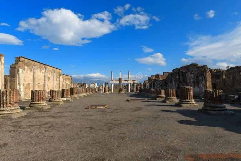 Pompeii. Main square in Pompeii Forum royalty free stock photos
