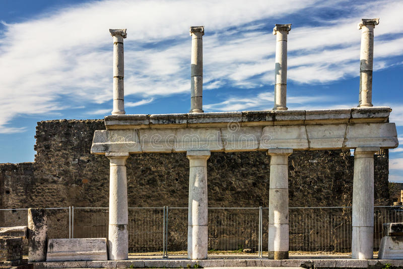 Pompeii Naples, Italien den roman forntida staden fördärvar arkivfoton