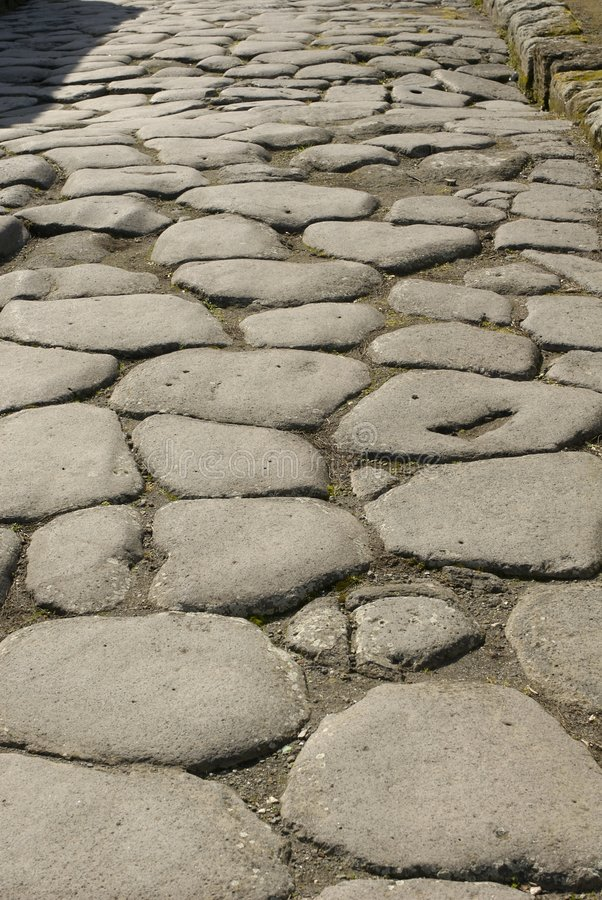 Pompeii road stock photos