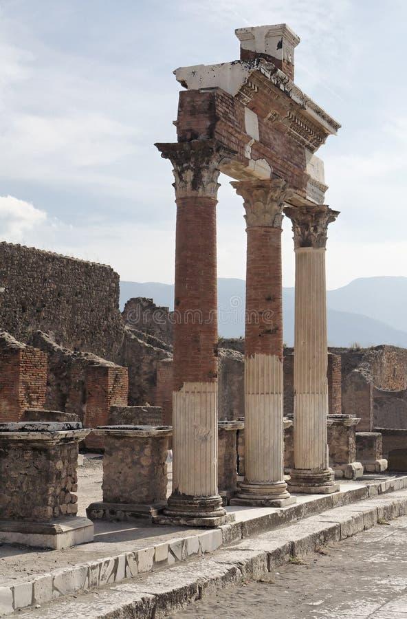 Pompeii Roman Forum royalty free stock images