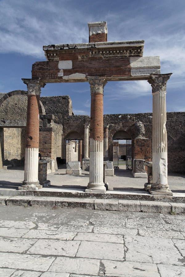 Pompeii Roman Forum stock photo