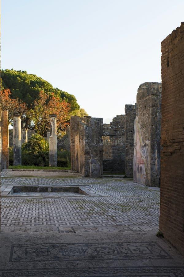 Pompeii Roman House. The ruins of a Pompeii roman house, Italy. 27/12/2016 stock photos