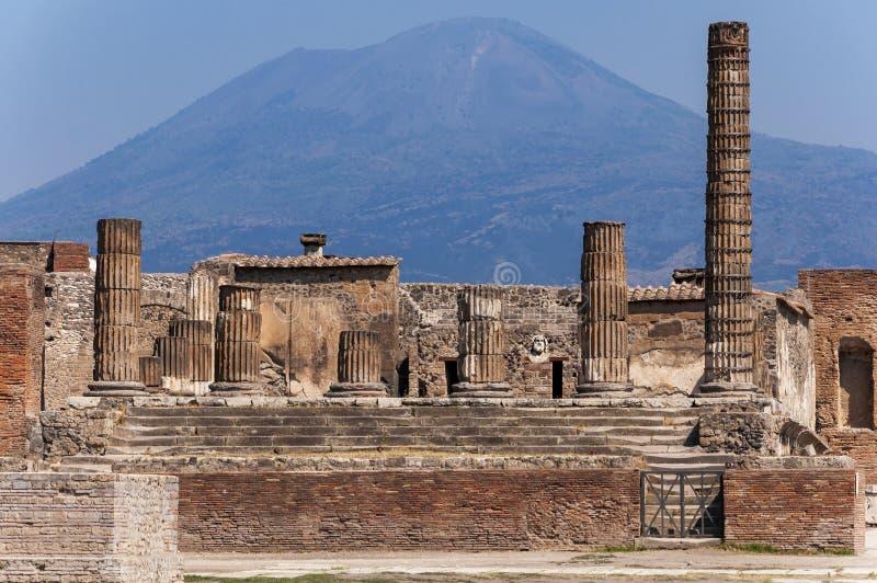 Pompeii. Roman Pompeii ruins, Temple of Jupiter in Regio VII royalty free stock photos