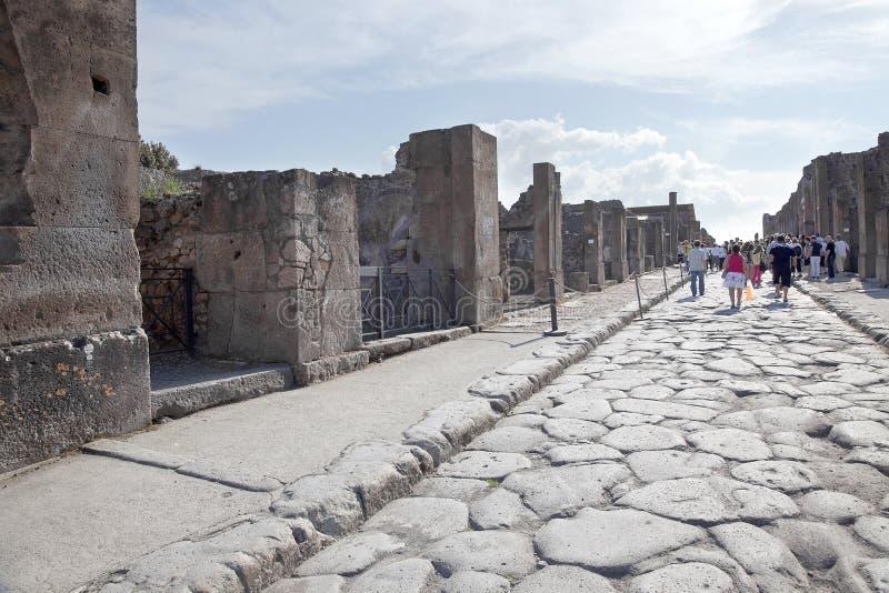 Pompeii. Rua imagem de stock royalty free
