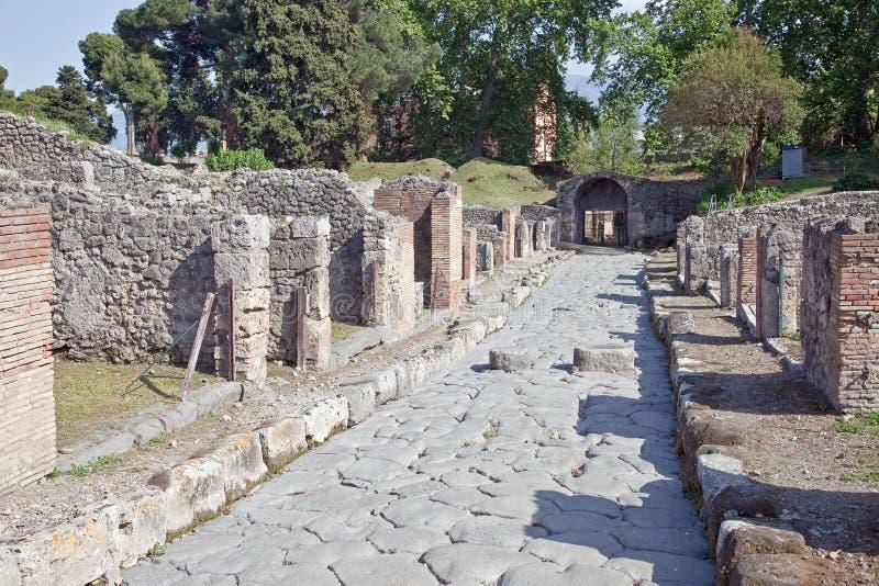 Pompeii. Rua fotografia de stock royalty free