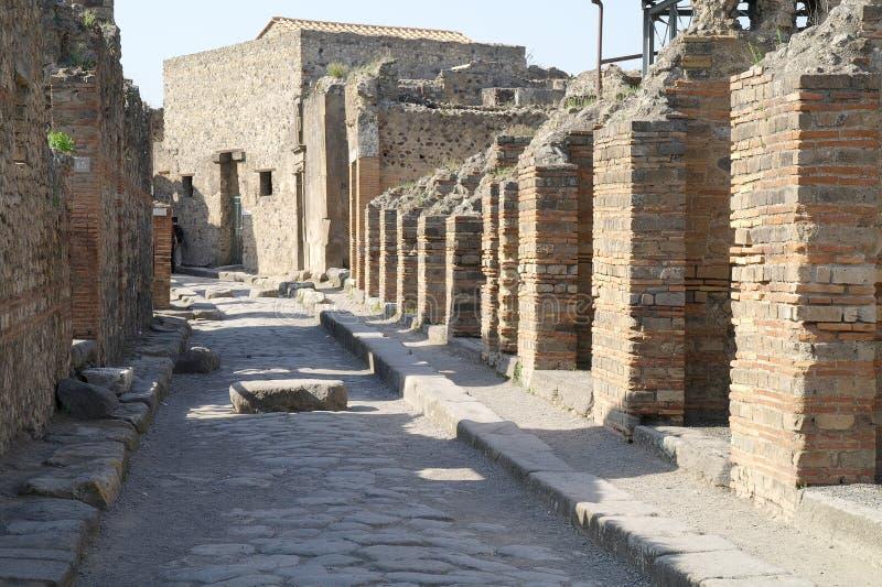 Pompeii. Rua fotos de stock