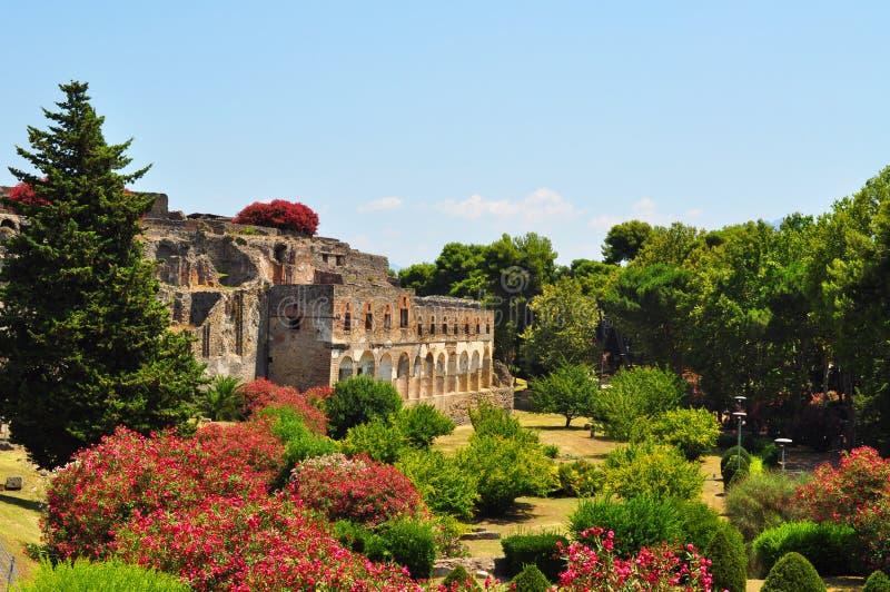 Pompeii Ruins, Italy royalty free stock image