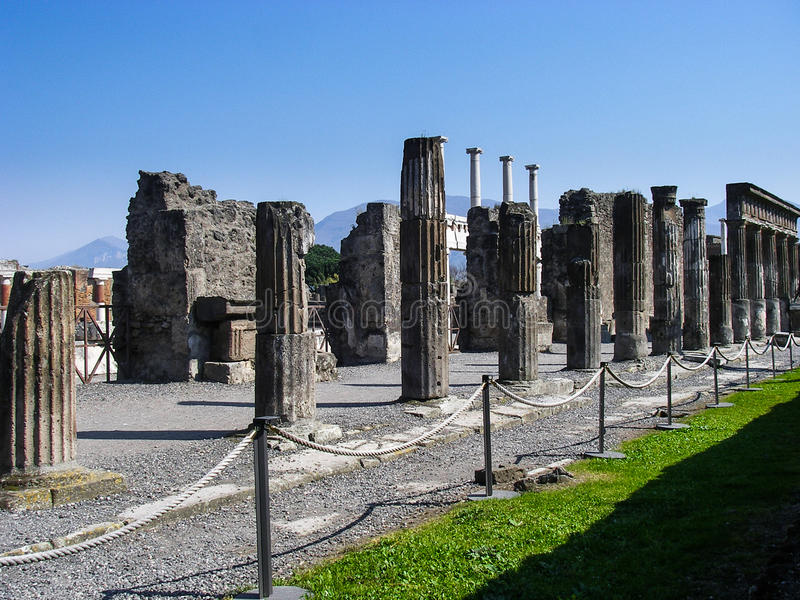 Pompeii ruins. The ruins of Pompeii, Italy royalty free stock photography