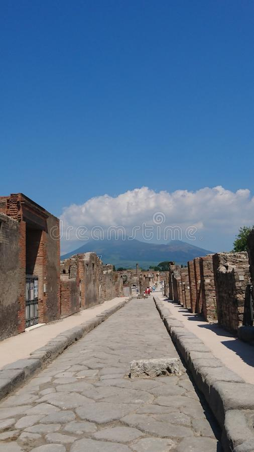 Pompeii. Ruins from pompeii. Italy. What is left behind royalty free stock photography