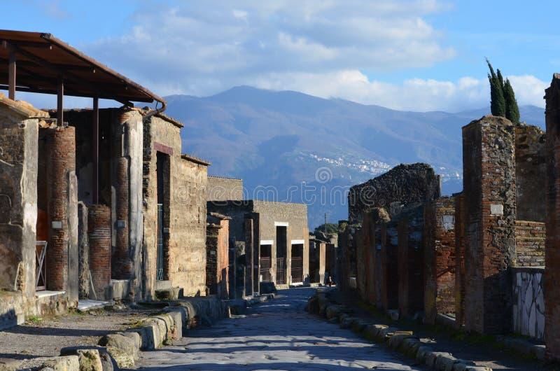 POMPEII. The ruins of Pompeii in Naples, Italy royalty free stock photos