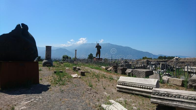 Pompeii. Ruins from pompeii. What is left behind royalty free stock photo