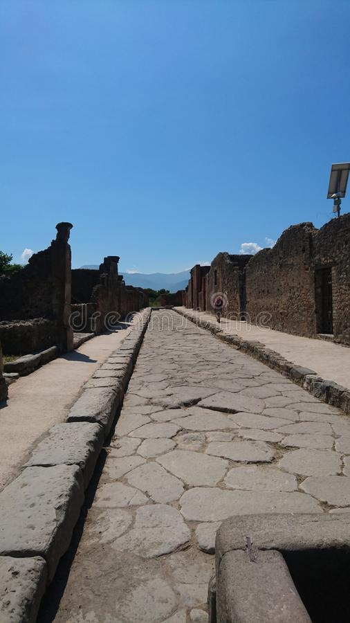 Pompeii. Ruins from pompeii. What is left behind stock photos
