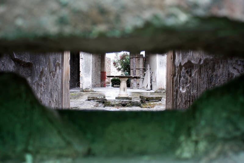 Pompeii ` s antykwarski spojrzenie zdjęcia stock
