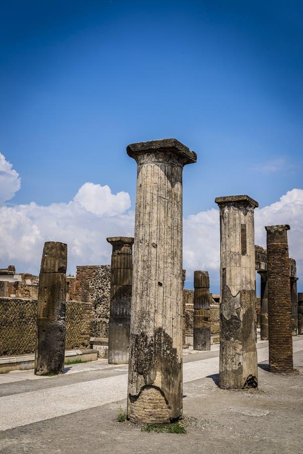 Pompeii, site archéologique près de Naples, forum, Italie images libres de droits