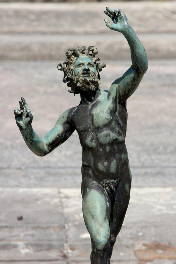 Pompeii statua fotografia stock