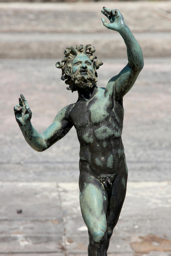 Pompeii Statue stock photography