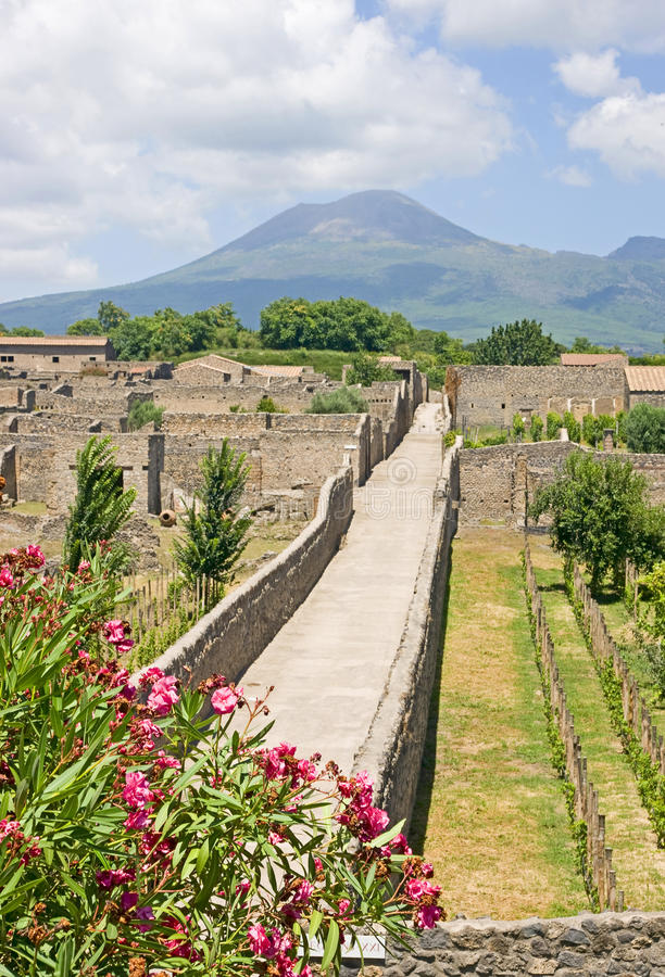 Pompeii street. In the summer stock photo