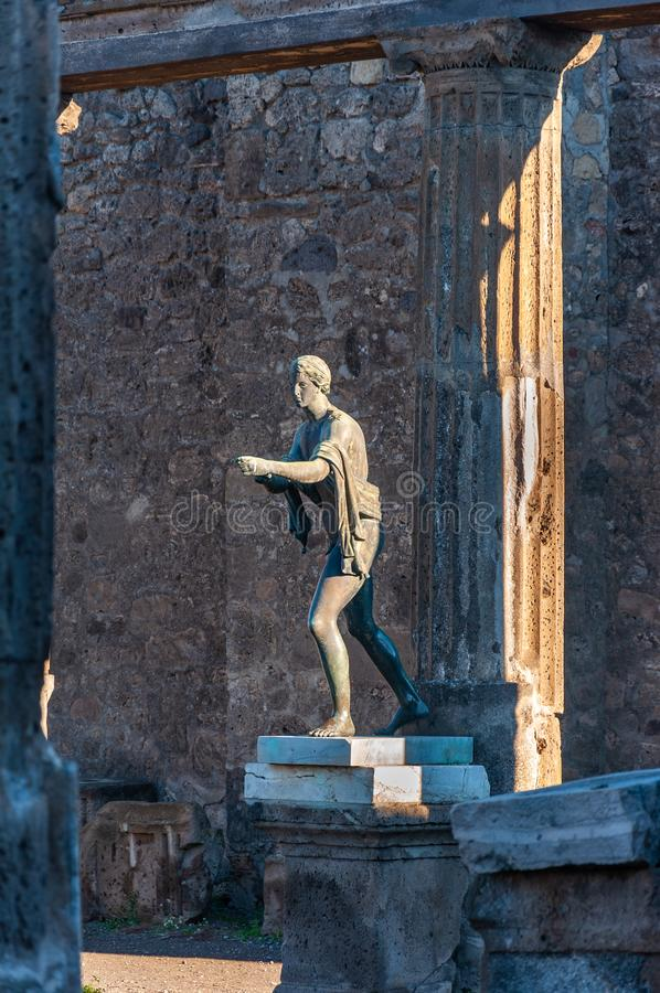 Free Pompeii, The Best Preserved Archaeological Site In The World, Italy. Statue Of Apollo. Royalty Free Stock Photo - 157820245
