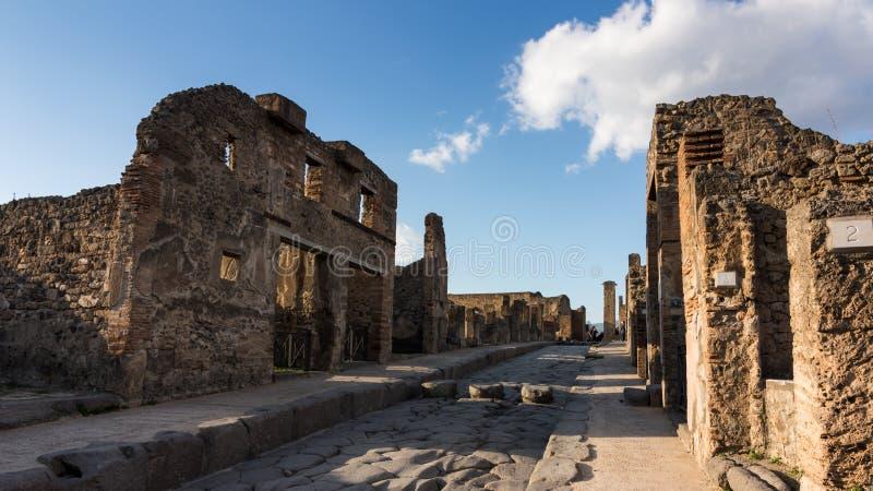 Pompeii ulicy obraz royalty free