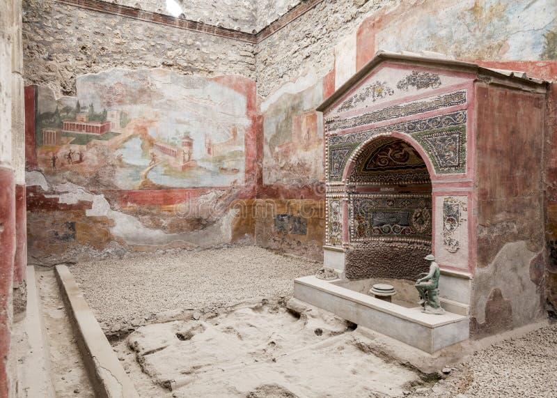 Pompeii villa stock photos
