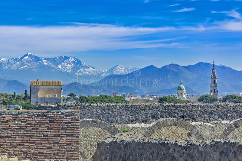 Pompeii, ville romaine antique en Italie photographie stock