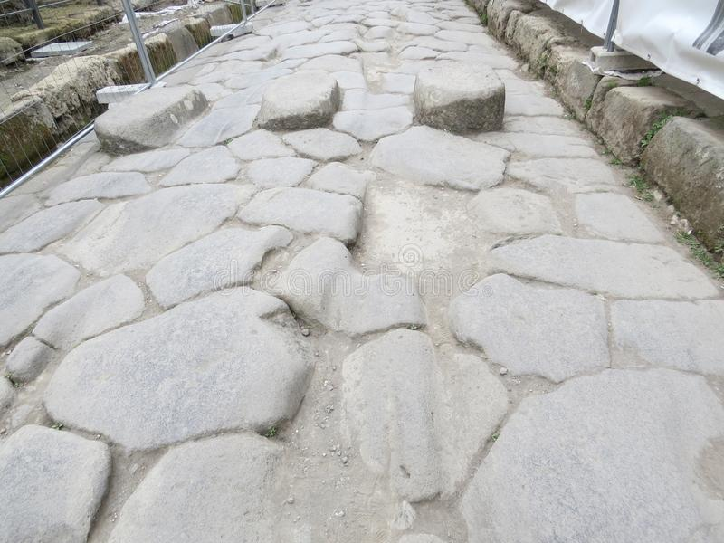 Pompey or Pompeii. Naples, Italy. Pompeii was an ancient Roman town-city near modern Naples, in the Campania region of Italy. It was mostly destroyed and buried stock images