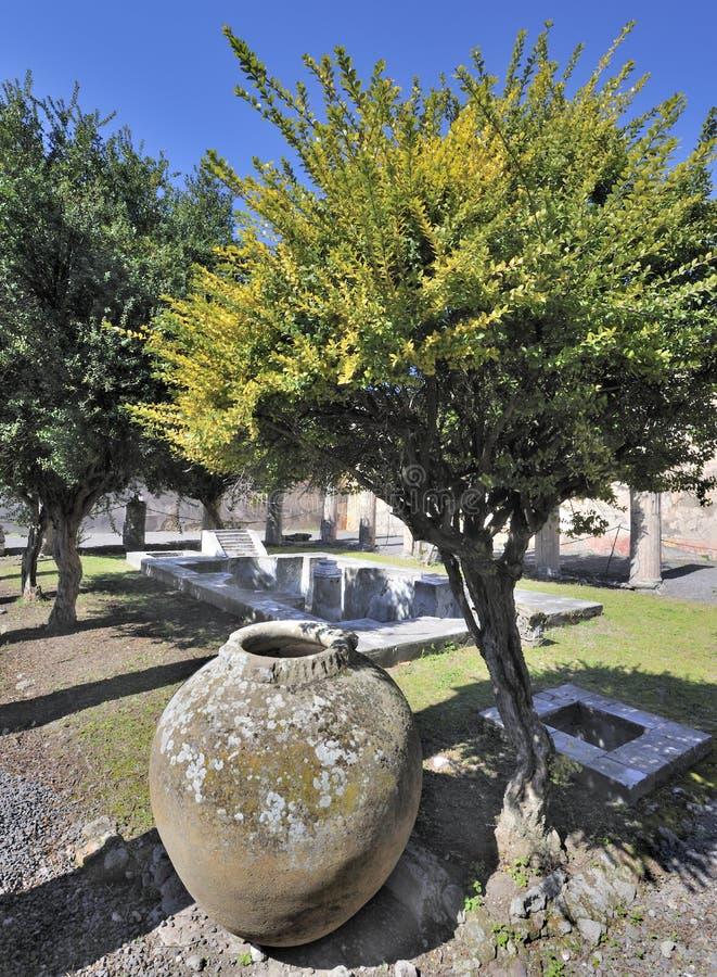 pompeiian villa royaltyfri fotografi